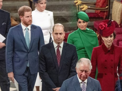 The royal family have sent their congratulations to the Sussexes on the arrival of their daughter (Phil Harris/Daily Mirror/PA)