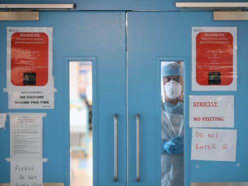 A Covid-19 recovery ward at Craigavon Area Hospital in Co Armagh (Niall Carson/PA)