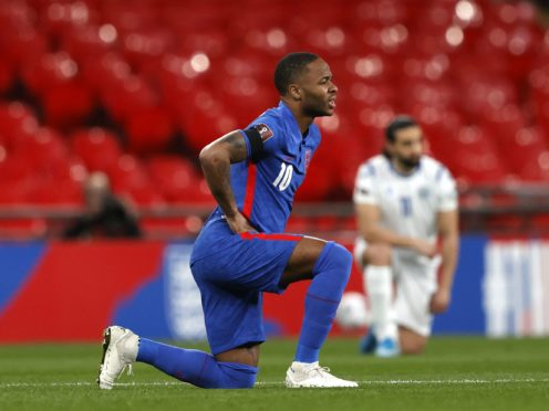 Raheem Sterling is disappointed that some England fans have not understood why players are taking the knee (Adrian Dennis/PA)