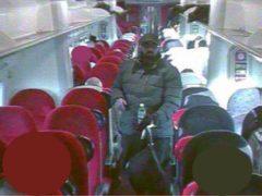 Usman Khan on board a train to London (Metropolitan Police/PA)