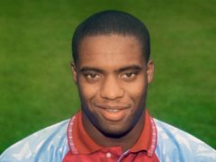 Dalian Atkinson, pictured in 1991, during his time at Aston Villa (PA).