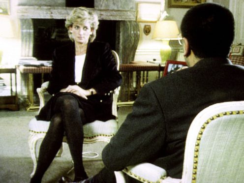 Diana, Princess of Wales during her interview with Martin Bashir (BBC)