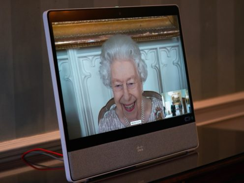 The Queen made many virtual appearances during lockdown (Yui Mok/PA)