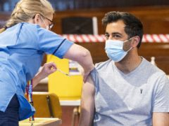 Scottish Health Secretary Humza Yousaf thanked the volunteers for helping with the vaccination programme (Jane Barlow/PA)