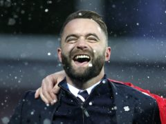 Dundee manager James McPake is celebrating a new contract (Jeff Holmes/PA)