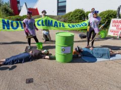Activists locking down BP's Southampton oil terminal (William Templeton/XR)