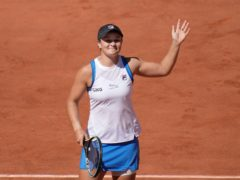 Ashleigh Barty's campaign could be compromised by a hip injury (Christophe Ena/AP)