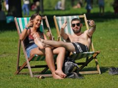 People enjoying the sun in Hyde Park, London (PA)