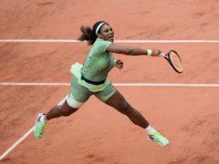 Serena Williams in full flight during her victory over Mihaela Buzarnescu (Thibault Camus/AP)
