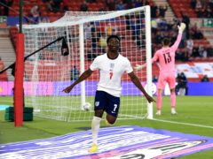 Bukayo Saka scored his first England goal in Wednesday's friendly win over Austria (Lindsey Parnaby/PA)