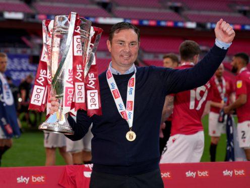 New Bradford boss Derek Adams won promotion with Morecambe via the play-offs (John Walton/PA)