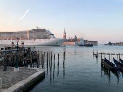 The Cruise ship MSC Orchestra in Venice (JC Viens via AP)