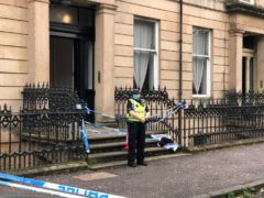 Police activity in West Princes Street in Woodlands, Glasgow, following the death of Esther Brown (Douglas Barrie/PA)