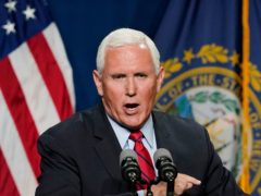 Former US vice president Mike Pence has said he is not sure he and ex-president Donald Trump will ever see 'eye to eye' over what happened in the deadly riot at the US Capitol (Elise Amendola/AP)