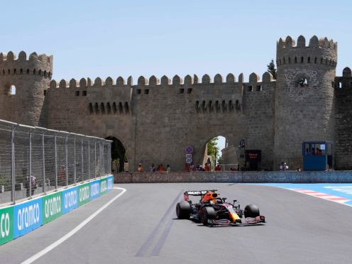 Max Verstappen finished fastest in first practice in Azerbaijan (Darko Vojinovic/AP)