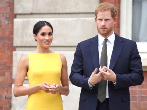 Duke and Duchess of Sussex (Yui Mok/PA)