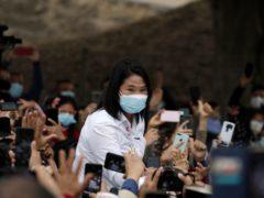 Presidential candidate Keiko Fujimori (Guadalupe Pardo/AP)