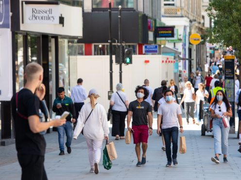 Shoppers on Oxford Street in central London (Dominic Lipinski/PA)