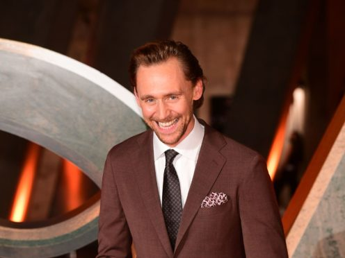 Tom Hiddleston posed on the red carpet at an event to mark the launch of his Disney+ series Loki (Ian West/PA)