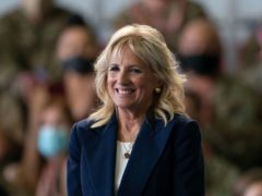 First Lady Jill Biden is with her husband in Cornwall (PA)
