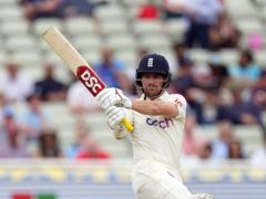 Rory Burns was unbeaten at tea in the second Test (Mike Egerton/PA)