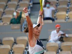 Barbora Krejcikova celebrates a dramatic victory (Michel Euler/AP)