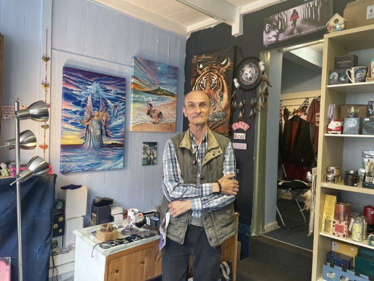 Colin Noall who owns Noall's Emporium in St Ives (Isobel Frodsham/PA)