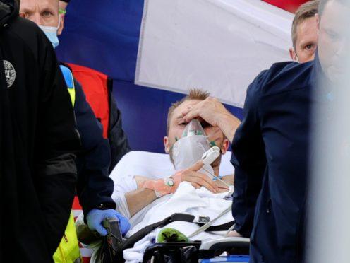 Christian Eriksen is out of hospital after having a defibrillator implant fitted (Friedemann Vogel/AP)