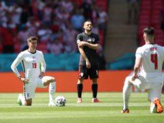England's Mason Mount (left) and Declan Rice take the knee (Nick Potts/PA)