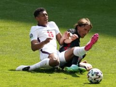 England teenager Jude Bellingham made history against Croatia (Martin Rickett/PA)