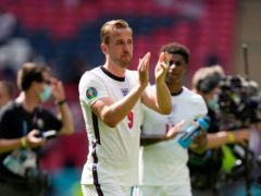 Harry Kane became the first captain to lead England to victory in their opening game at a Euros. (Frank Augstein/AP)