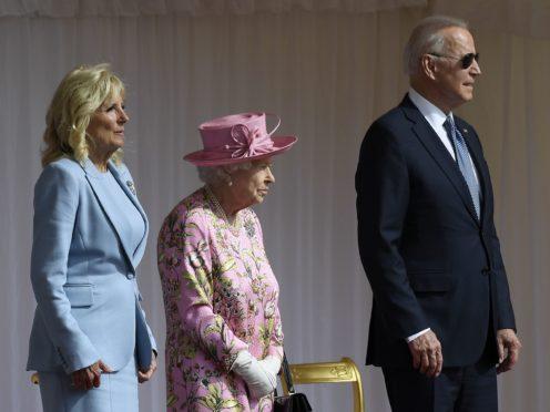 The Queen with US President Joe Biden and First Lady Jill Biden (Matt Dunham/PA)