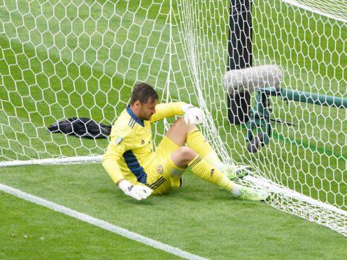 Scotland goalkeeper David Marshall was beaten from long range by the Czech Republic's Patrik Schick (Owen Humphreys/PA)