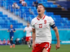Spain will attempt to stop Poland's Robert Lewandowski as they look for a first win at the Euro 2020 finals (Evgenya Novozhenina/AP/PA)