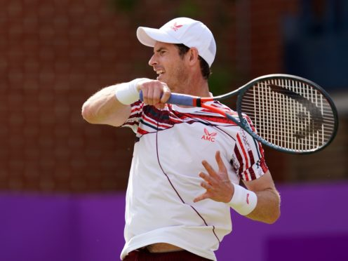 Andy Murray is in action at Queen's and will have to watch Scotland's game in his tournament bubble (John Walton/PA)