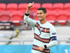 Cristiano Ronaldo set a new European Championship goalscoring record in Portugal's 3-0 Euro 2020 victory over Hungary (Tibor Illyes/AP)