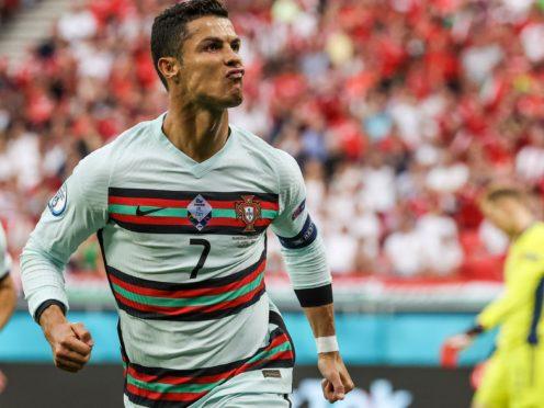 Cristiano Ronaldo scored twice in Portugal's Euro 2020 opener against Hungary (Bernadett Szabo/AP)
