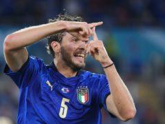 Manuel Locatelli opened the scoring against Switzerland (Ettore Ferrari/AP)