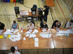 The count of votes in the Chesham and Amersham by-election (Yui Mok/PA)