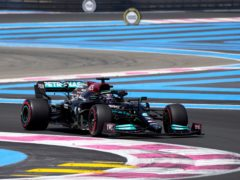 Lewis Hamilton finished third in practice for the French Grand Prix (Francois Mori/AP)