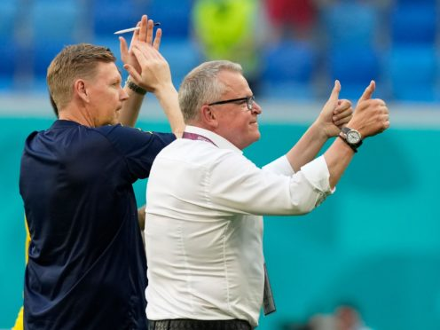 Sweden coach Jan Andersson is ignoring the criticism of his side (Dmitri/Lovetsky/AP)