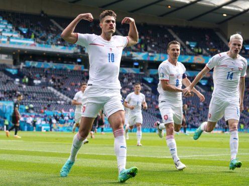 Patrik Schick scored his third goal of the Euros (Andrew Milligan/PA)
