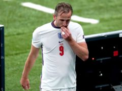 A frustrated Harry Kane leaves the pitch after being substituted during the goalless draw with Scotland (Mike Egerton/PA)