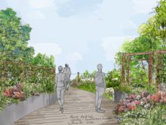 Artist illustration of a Cop26 garden which will feature at this year's Chelsea Flower Show (RHA/PA)