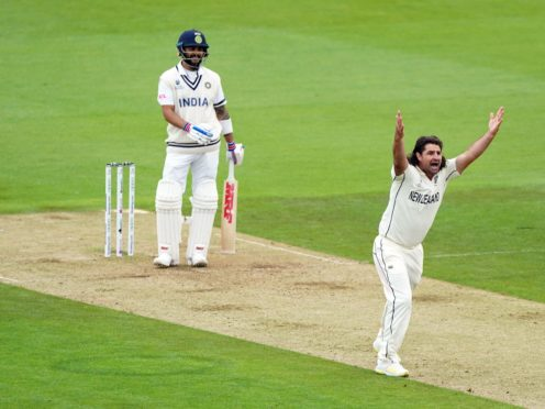 New Zealand's Colin de Granhomme appeals for the wicket of India's Virat Kohli during day two of the World Test Championship final match at The Ageas Bowl (Adam Davy/PA)