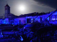 Houses are damaged after a tornado hit the village of Moravska Nova Ves in the Hodonin district, South Moravia, Czech Republic (Vaclav Salek/CTK via AP)