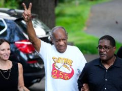 Gloria Allred, the high-powered lawyer who represented many of Bill Cosby's accusers, has warned the comedian is 'not home free' despite being released from prison (AP Photo/Matt Slocum)