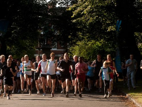 Parkrun is scheduled to return at the end of the month (Gareth Copley/PA)