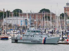 The UK Border Agency cutter HMC Valiant (PA)