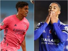 Raphael Varane, left, and Youri Tielemans are attracting interest from clubs (Nick Potts/Jon Super/PA)